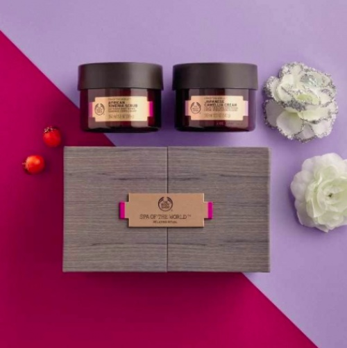 Coffret rituel relax (Gommage & Baume) - Body Shop