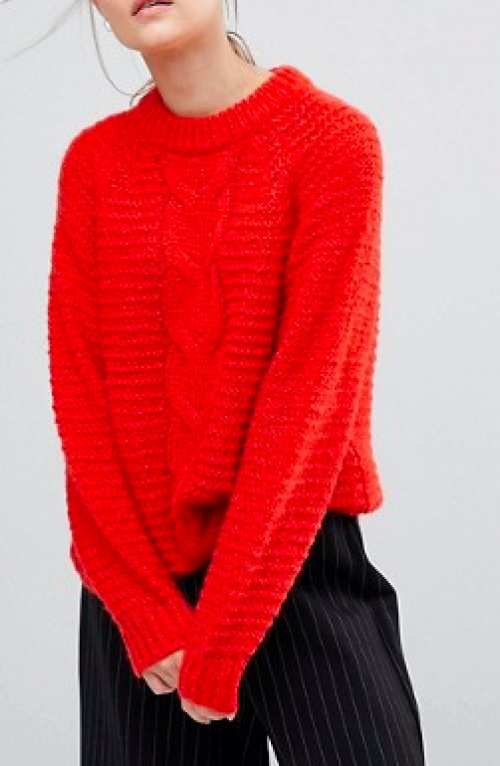 Selected Femme - Pull rouge