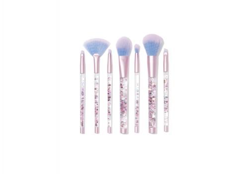 Lime Crime - Aquarium liquid glitter makeup brush set & pouch