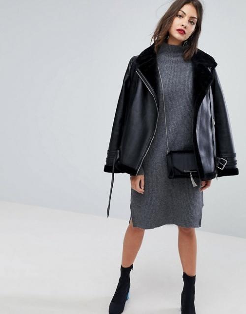 Selected Femme - Robe pull
