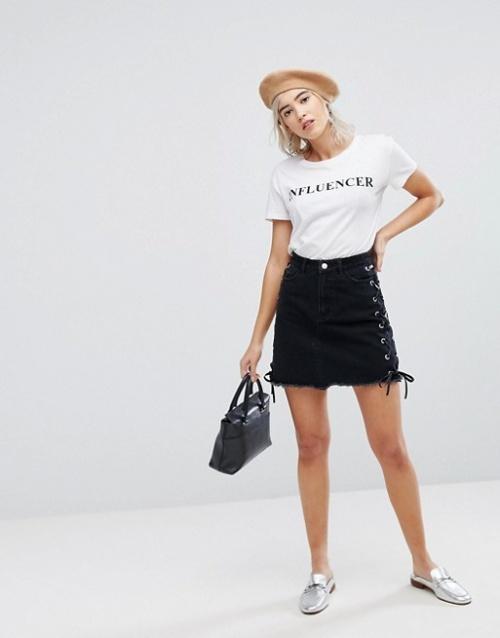 Urban Bliss - Mini-jupe lacée