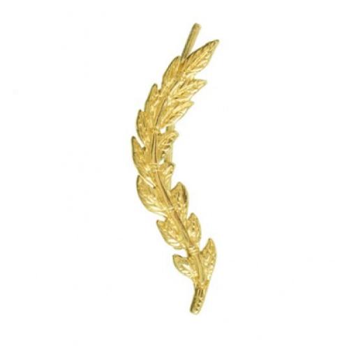 Lou Yetu - Boucle laurier dorée or fin
