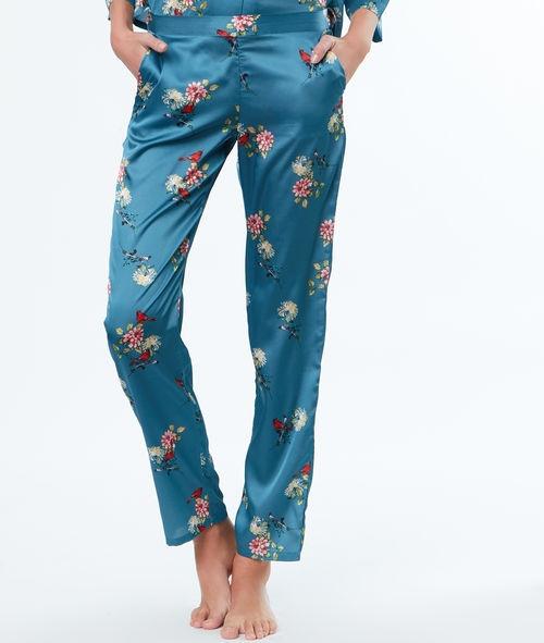 Etam - Pantalon en satin imprimé fleurs