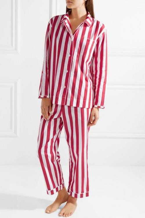 Sleepy Jones - Pyjama en coton à rayures