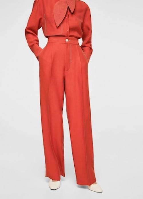 Mango - Pantalon coutures contrastantes