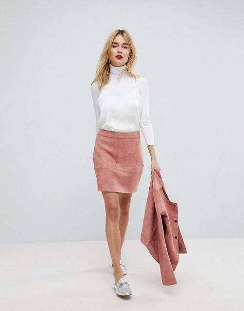 Vero Moda - mini jupe imitation daim
