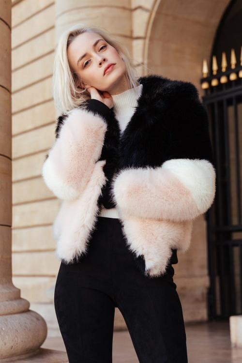 EMMA - Manteau en fausse fourrure