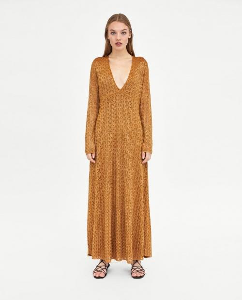 Zara - Robe longue brillante
