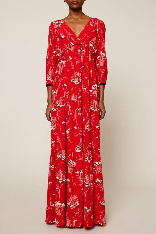 Bash - Robe longue évasé à imprimé floral