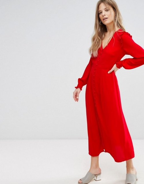 New Look - Robe longue boutonnée