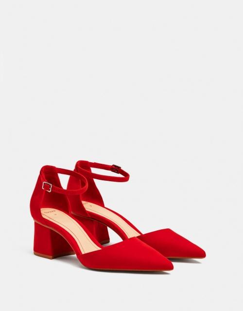 Bershka - Chaussures à talon moyen rouges