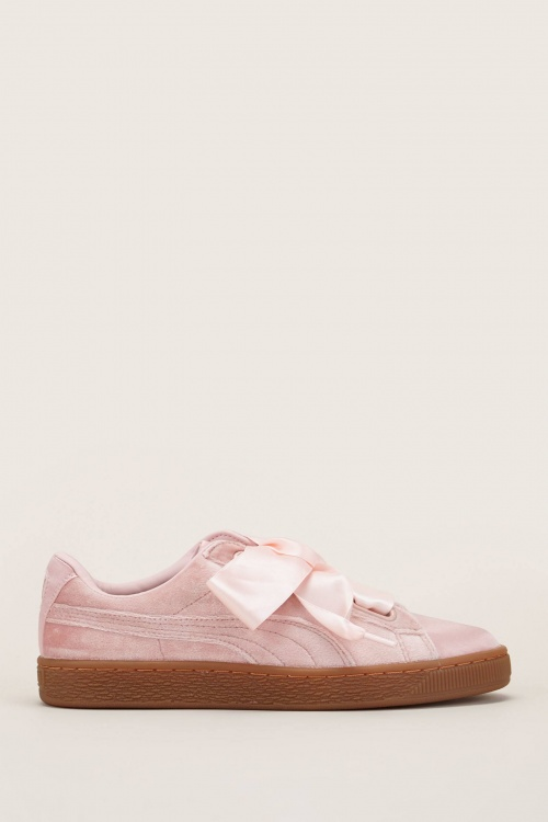 Puma - Sneakers en velours Heart VS Wn's rose