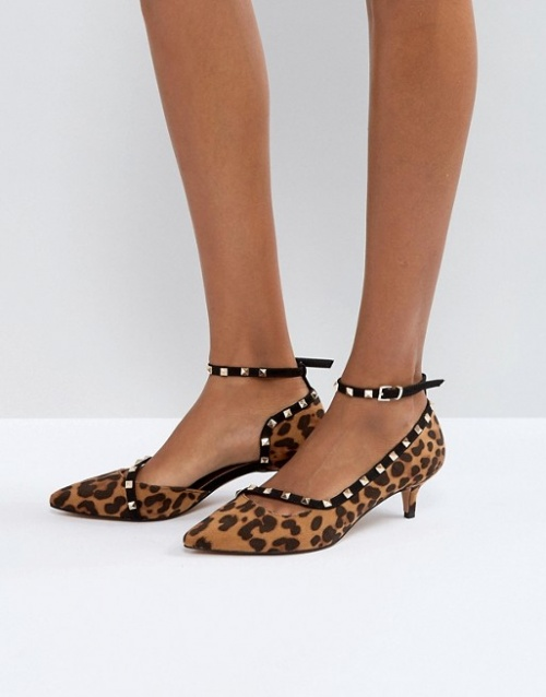 Asos - Chaussures à talons bobines cloutées