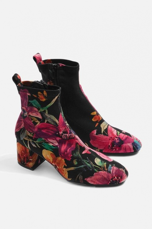 Topshop - Bottines imprimés fleurs