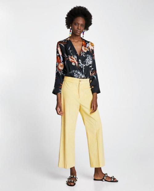 Zara - Body imprimé à épaulettes