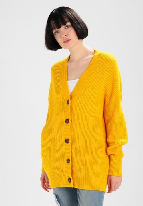 Gina Tricot - Gilet en grosse maille jaune