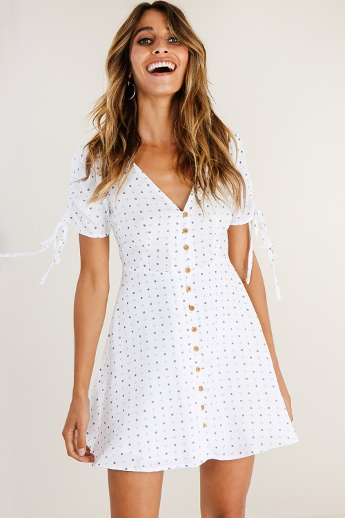 Verge Girl - Robe boutonnée imprimée