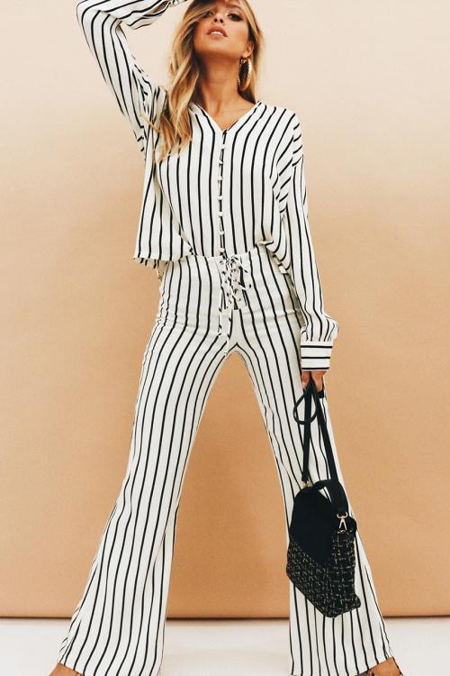 Verge Girl - Pantalon à rayures