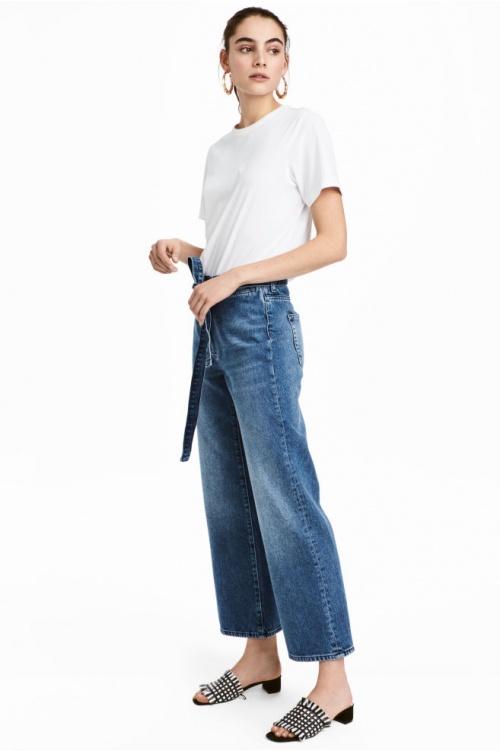 H&M - Jean wide leg à noeud