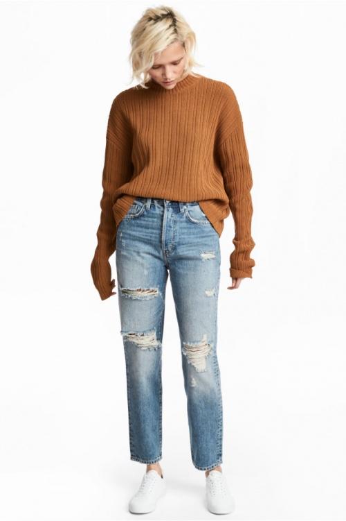 H&M - Jean taille haute longueur cheville
