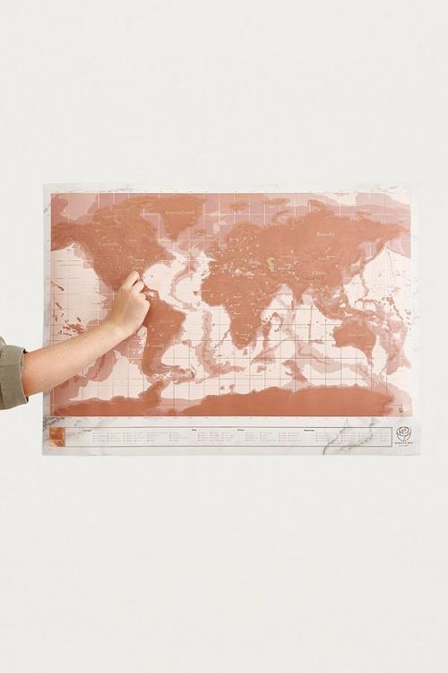 Urban Outfitters - Carte du monde à gratter