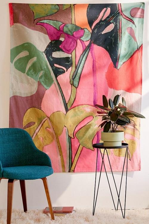 Urban Outfitters - Tenture à motif palmiers color block