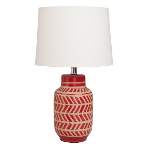 Maison du Monde - Lampe en céramique rouge à motifs