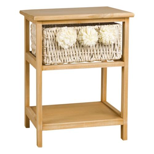 Maison du Monde - Table de chevet en paulownia et pompons