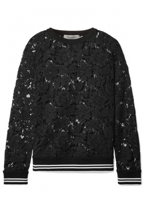 Valentino - Sweat en dentelle