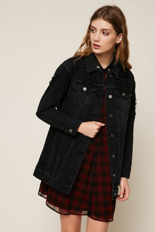 Noisy May - Veste grise en jean