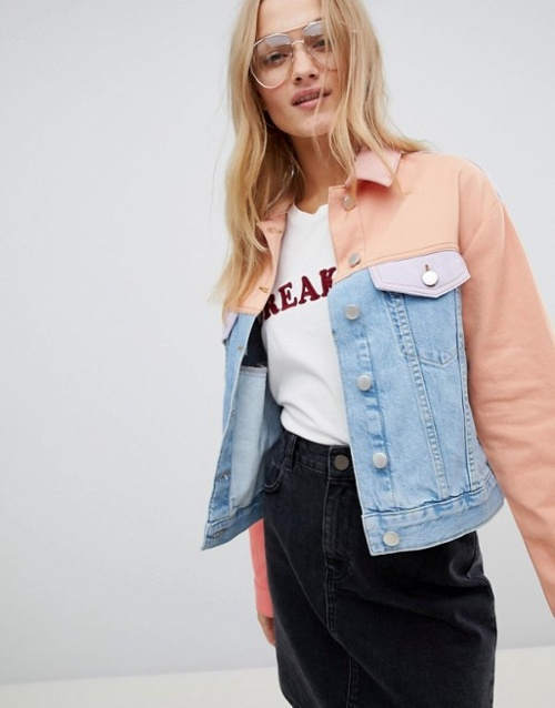 ASOS - Veste en jean color block