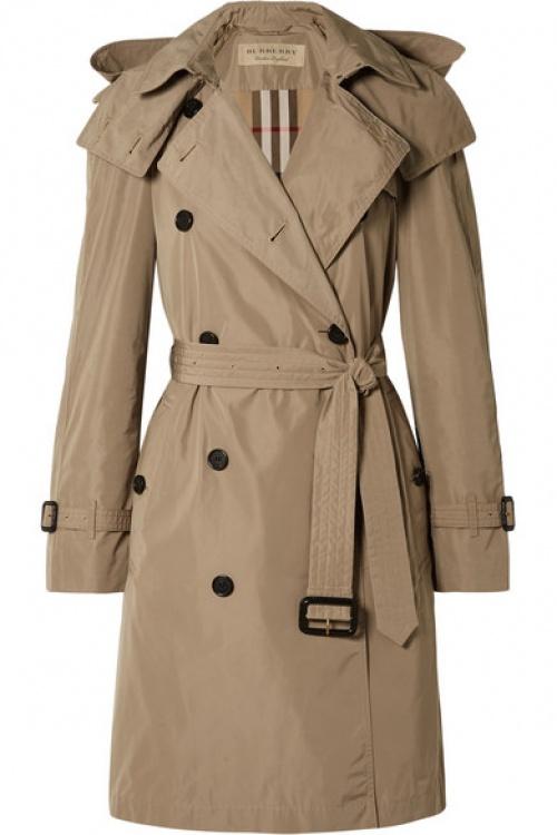 Burberry - Trench-coat à capuche en tissu imperméable