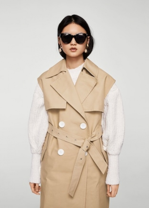 Mango - Gilet trench boutons