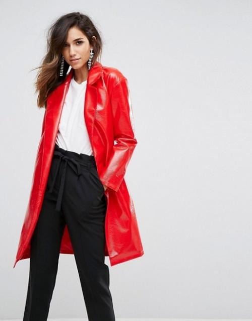 Miss Selfridge - Trench-coat en vinyle