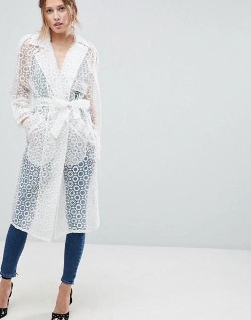 ASOS - Manteau en organza avec ceinture