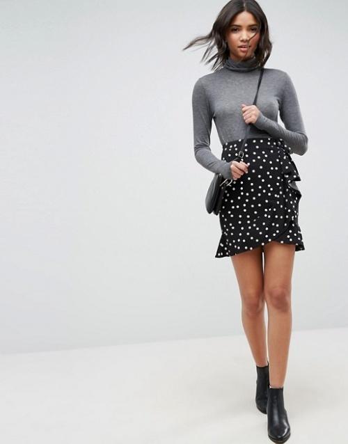 ASOS DESIGN - Mini-jupe style portefeuille
