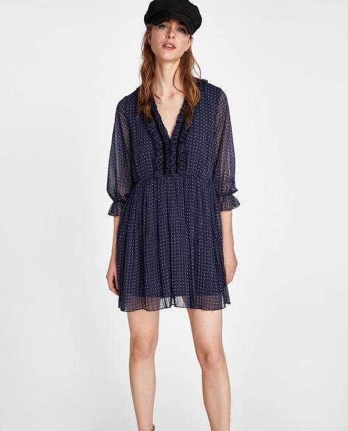 Zara - Robe à pois