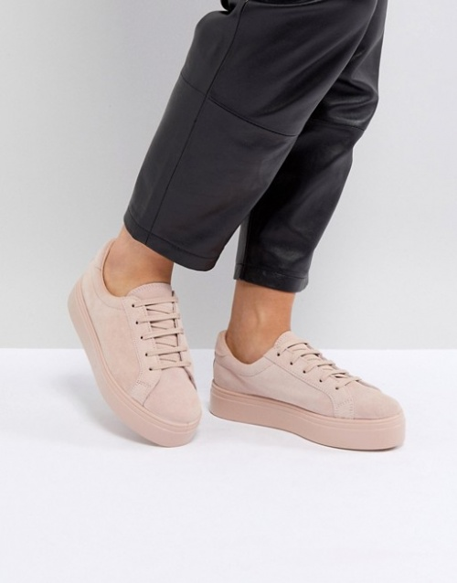 ASOS - Baskets en daim à lacets