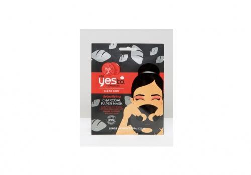 Yes To Tomatoes - Masque en tissu détoxiant charbon