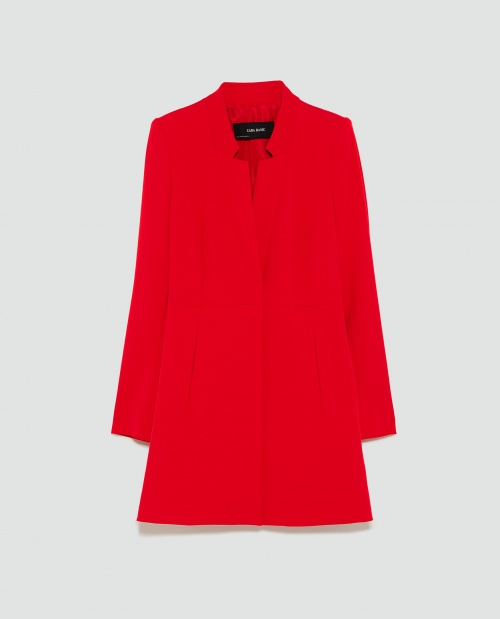 Zara - Manteau à revers inversé