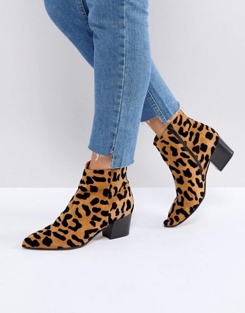 Office - Bottes à imprimé léopard