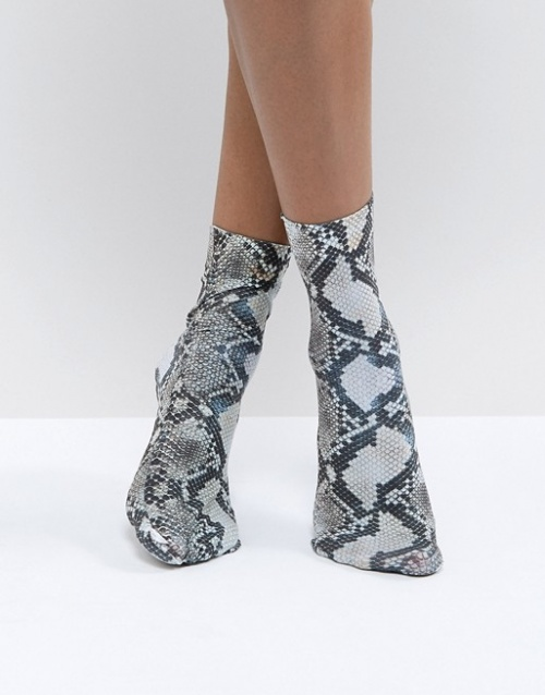ASOS DESIGN - Chaussettes à imprimé serpent