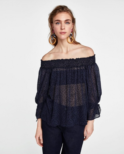 Zara - Top épaules dénudées