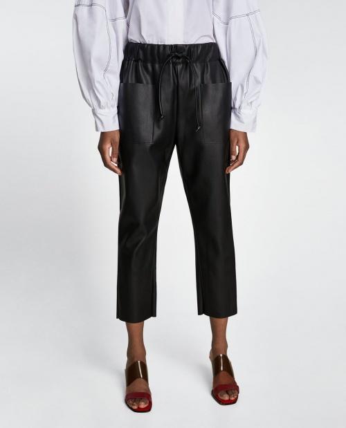 Zara - Pantalon effet cuir