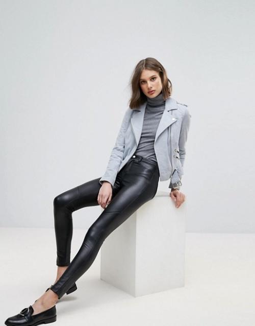 Only - Pantalon ajusté en similicuir