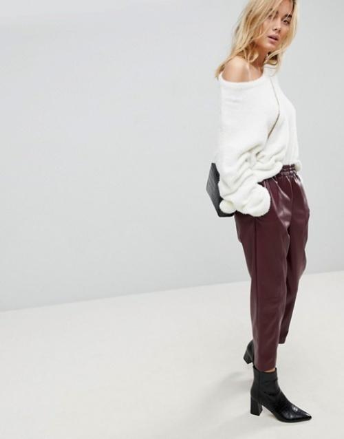 ASOS - Pantalon fuselé en similicuir