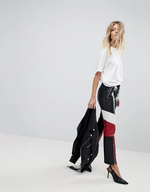 French Connection - Pantalon en cuir