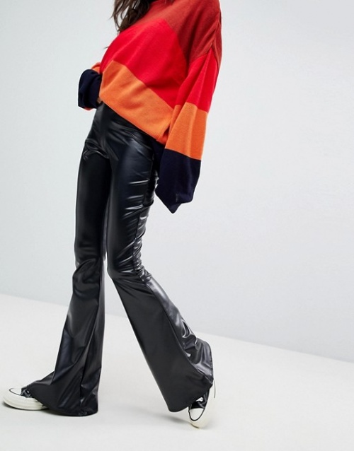 Rokoko - Pantalon évasé en similicuir