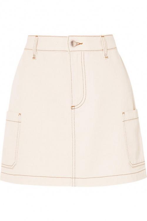 Alexa Chung - Mini-jupe en jean