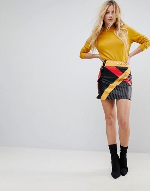 ASOS - Mini-jupe en similicuir